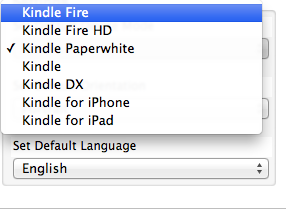 Kindle options