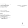 The Dead Snail Diaries title page