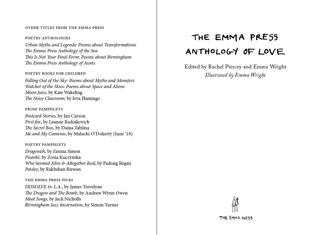 Anthology of Love (limited edition hardback)